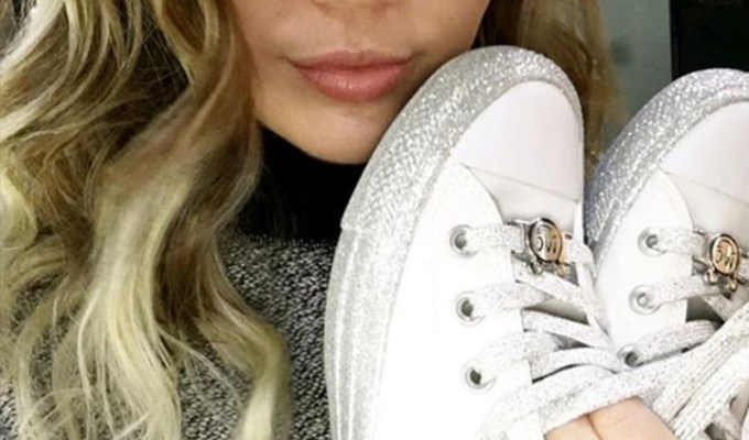 The Miley Cyrus Converse collaboration has been announced! The Converse shoes are based off Chuck Taylors, and come in glittery low and high tops!