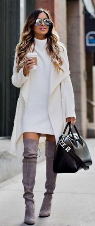 This is one of the cutest winter dress outfits!