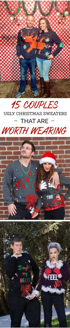 These couples ugly Christmas sweaters are so cute, and definitely are worth a try!