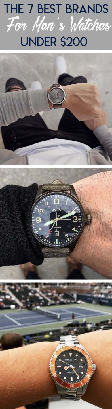 Here's some of the best brands for men's watches that are cheap!