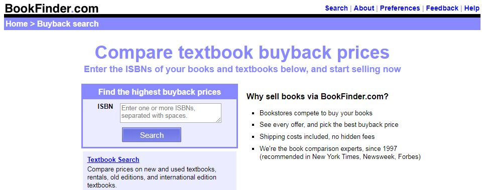 This is one of the best textbook buyback sites to sell textbooks!