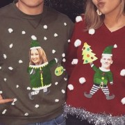 If you're looking for some ideas for couples ugly Christmas sweaters, then these funny and tacky womens and mens sweaters are the best for you!