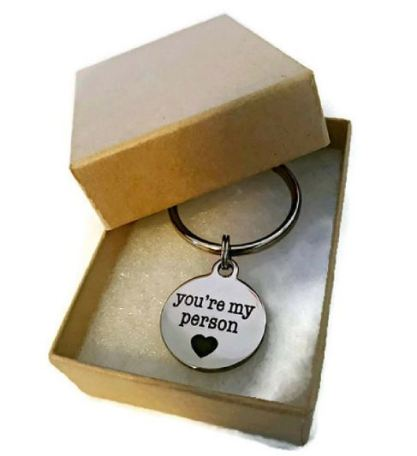 This cute keychain is such a unique Valentine's Day gift for her!