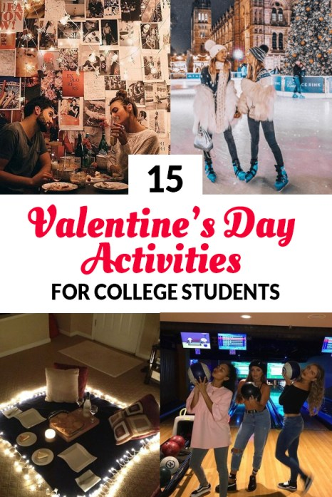 These are the best Valentine's Day Activities For College Students!