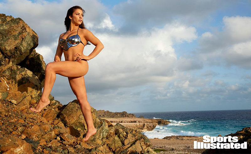 Aly Raisman's Sports Illustrated swimsuit shoot is nothing short of inspiring for women everywhere. The famously risque magazine has given women the opportunity to speak out about their experiences as women by painting empowering messages on their bodies. Aly Raisman in Sports Illustrated is truly inspirational!