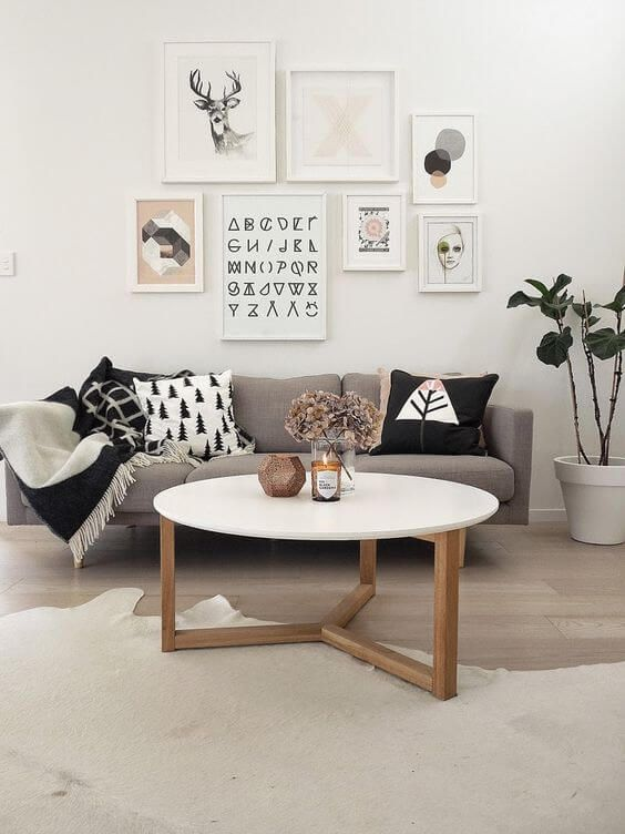 Try one of the hottest cute living room ideas out there with this Scandinavian look.