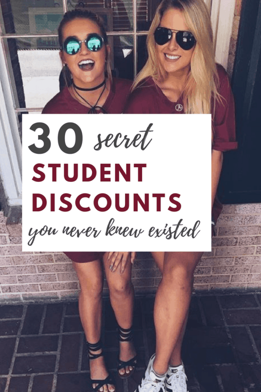 30 secret student discounts you never knew existed
