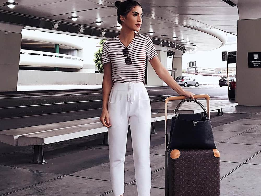 Do you have an upcoming trip planned? Have you gotten your travel wear ready? I've put together a list of 15 cute airport outfits that will make you turn heads in the terminal, while also staying comfy all flight long!