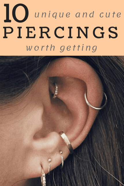 10 Unique Piercings That Are Actually Cute AF