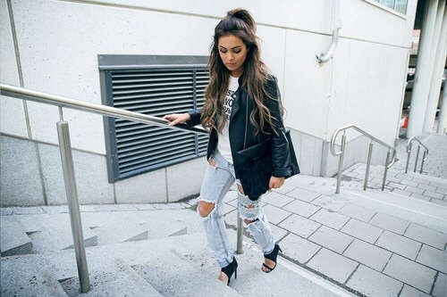 Check out these ways on how to pair your clothes with super ripped boyfriend jeans. You'll find out more creative ways to wear them!