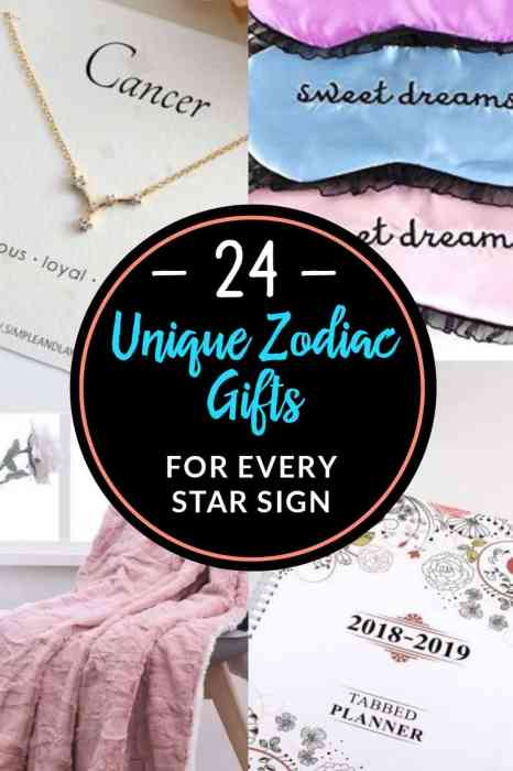 24 Unique Zodiac Gifts Perfect For Every Star Sign