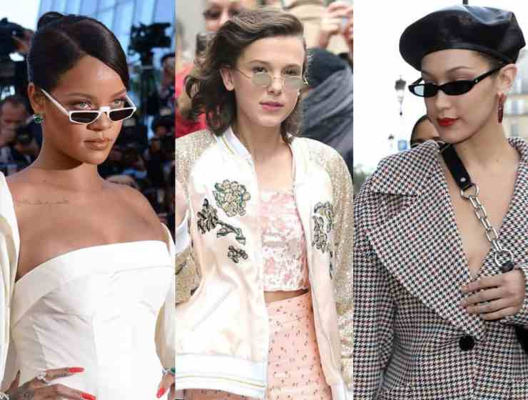 Wanna wear tiny sunglasses but dont know how? Here's some inspo from your favorite celebs to get the gist on how to wear them - pay attention, people!