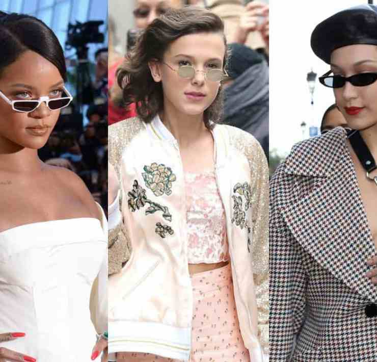 Wanna wear tiny sunglasses but dont know how? Here's some inspofrom your favorite celebs to get the gist on how to wear them - pay attention, people!
