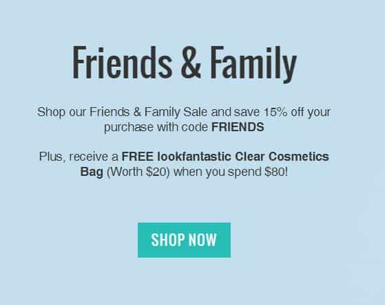 LookFantastic Is Doing An Insane Friends And Family Sale And You Can't Miss Out