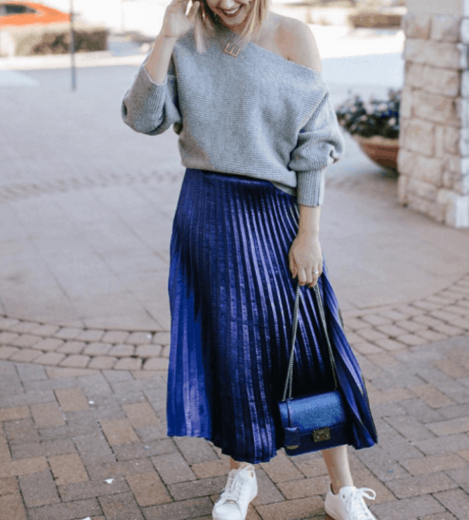 c16272901a10 How To Style Your Midi Skirt In The Cutest Way