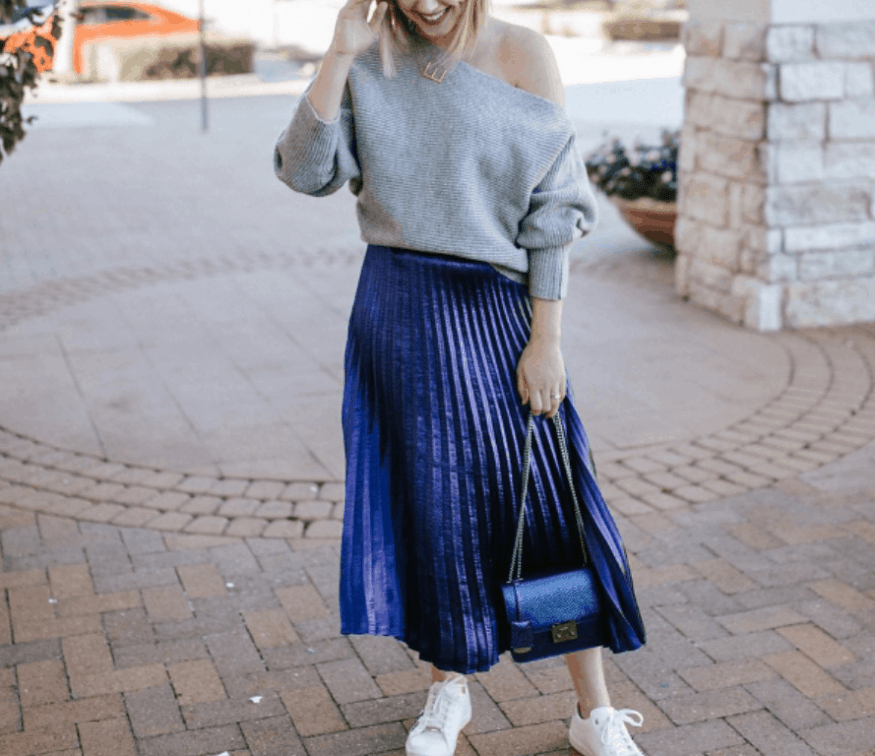 d83692a91d9 How To Style Your Midi Skirt In The Cutest Way