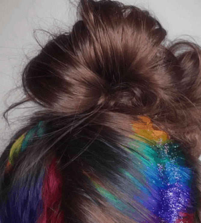 d0fea899bef DIY Glitter Hair Spray You Should Try For Pride