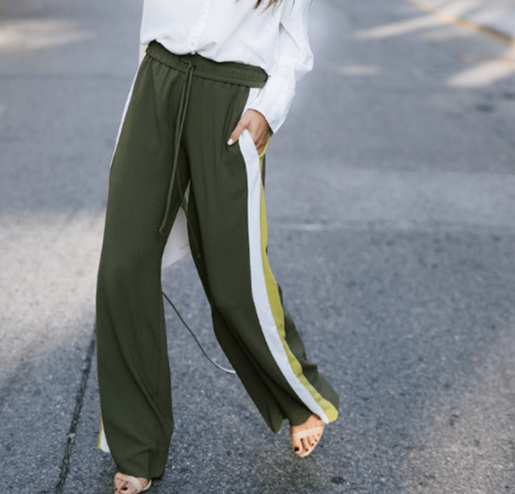 How To Turn Track Pants Into A Fashion Statement