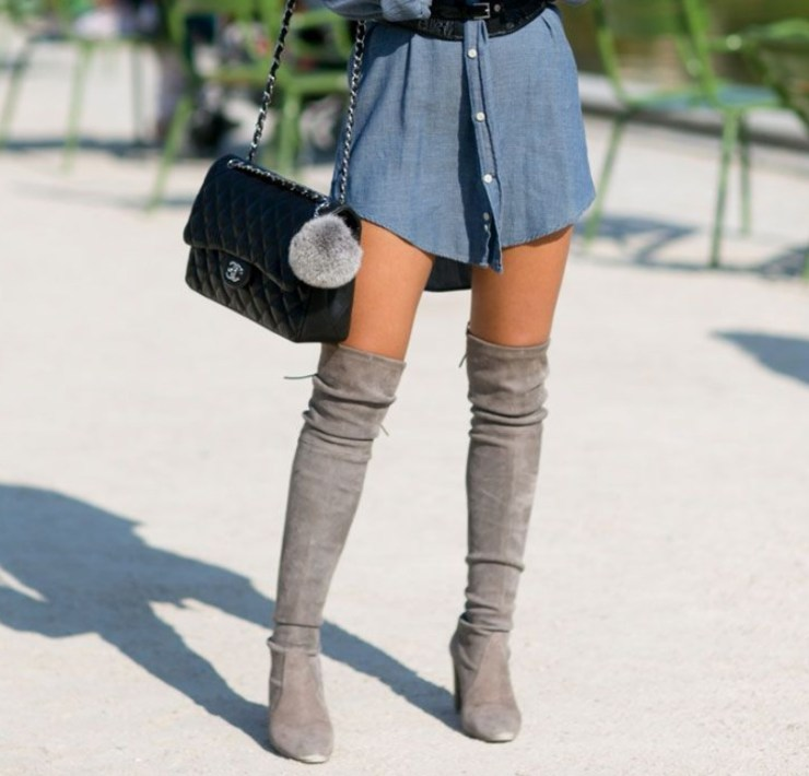 Boot Outfits, 15 Over The Knee Boot Outfits That Are Fashionable AF