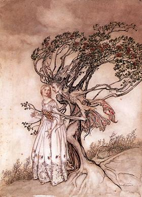 "3. ""Come, now a roundel."" One of Arthur Rackham's illustrations to Shakespeare's A Midsummer Night's Dream."