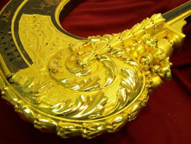 harp gilding restoration