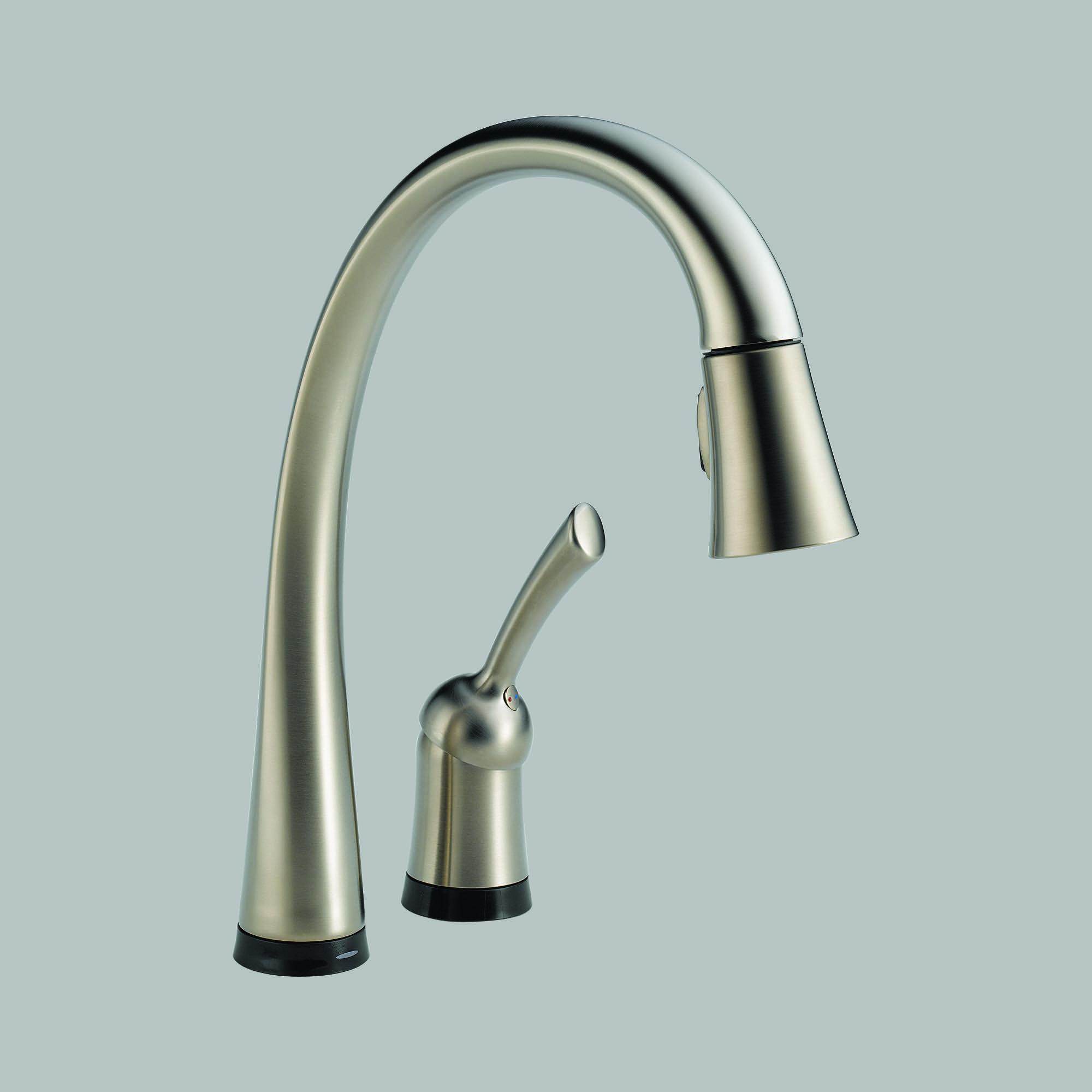delta touch kitchen faucet cork flooring 980t ar dst soci