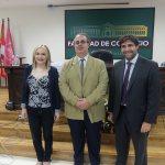 participantes de la ponencia de mediaset españa en la facultad de comercio