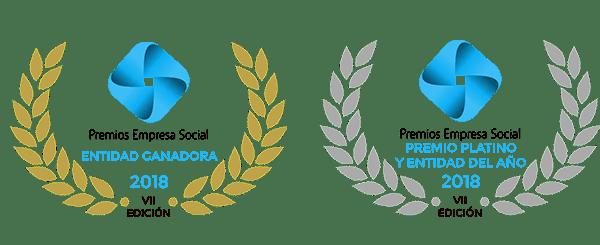 logo of the award best social company 2018