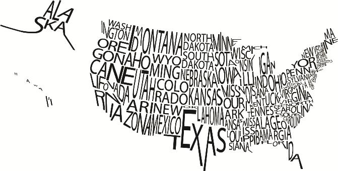 typographic-map-us