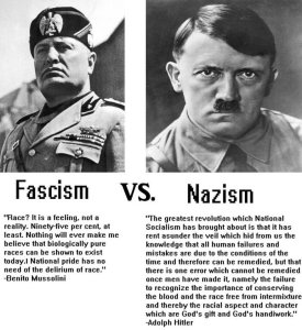 difference between fascism and nazism
