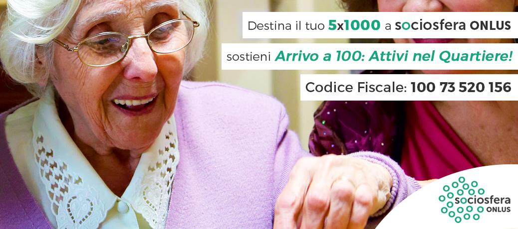 Il tuo 5×1000 a sostegno delle persone anziane a rischio di isolamento ed emarginazione