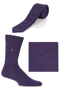 Mens SockShop Colour Burst Socks, Tie and Pocket Square