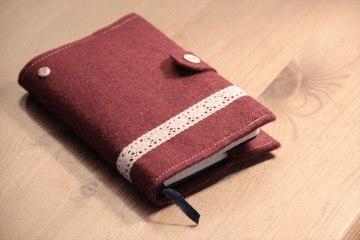 Tagebuch genäht aus Filz