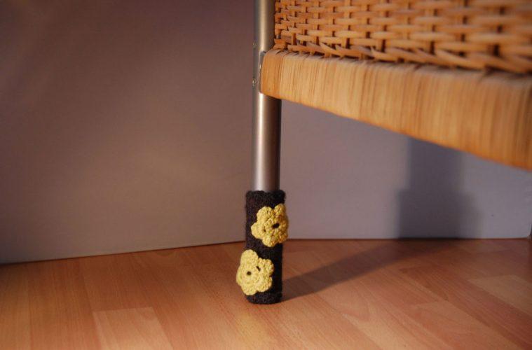 stuhlbeinsocke Anleitung: Stuhlbein Socke stricken – mit Filzwolle
