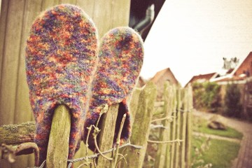 Felt slippers Tutorial: Felt slippers knitting pattern