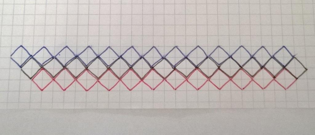 Schal im Entrelac-Muster  Häkelanleitung – Schal im Entrelac-Muster von Jellina Verhoeff