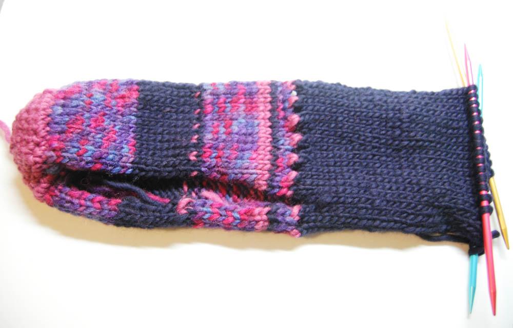 Handschuh für Getränke Weg-3 Handschuh für Getränke Anleitung: Handschuh für Getränke stricken