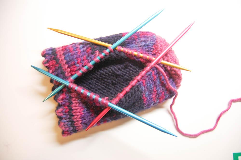 Handschuh für Getränke Weg-6 Handschuh für Getränke Anleitung: Handschuh für Getränke stricken