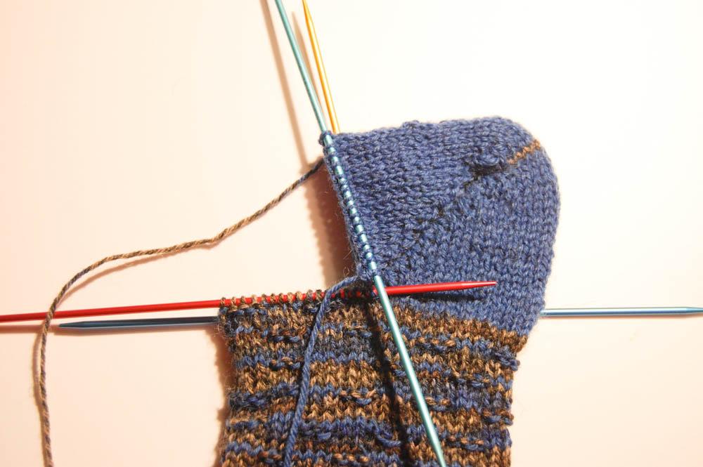 Socken aus Wollresten