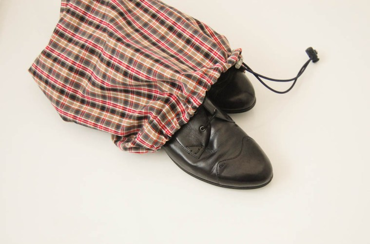 Schuhsack nähen schuhsack Anleitung: Schuhsack – Schuhbeutel nähen