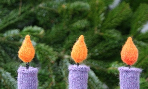 Weihnachtsdekoration selber machen kerzen