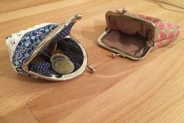 Taschenbügel Portemonnaie selbst nähen  Anleitung: Süßes Taschenbügel Portemonnaie selbst nähen