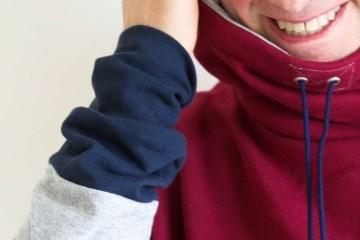 Nähen von Männerkleidung - Männerkragenhoody Loop von Selbermacher 123  Gastbeitrag: Maarika Meltsas  gibt Tipps zum Nähen von Männerkleidung