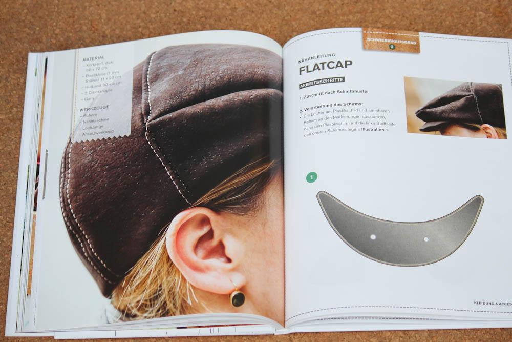Nähen mit Kork - Flatcap  Buchbesprechung: <b>Nähen mit Kork</b> von Carmo da Silva