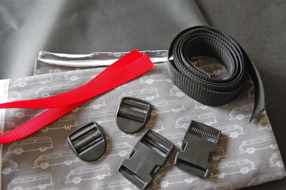 Rucksack nähen - Material  Anleitung: Schicken Rucksack nähen - Basismodell
