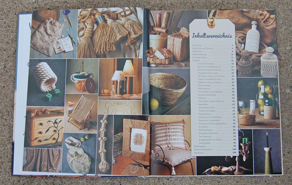 Kreativ mit Kordeln - Inhaltsverzeichnis kreativ mit kordeln Verlosung: Buch <i>Kreativ mit Kordeln</i> von Deena Beverly