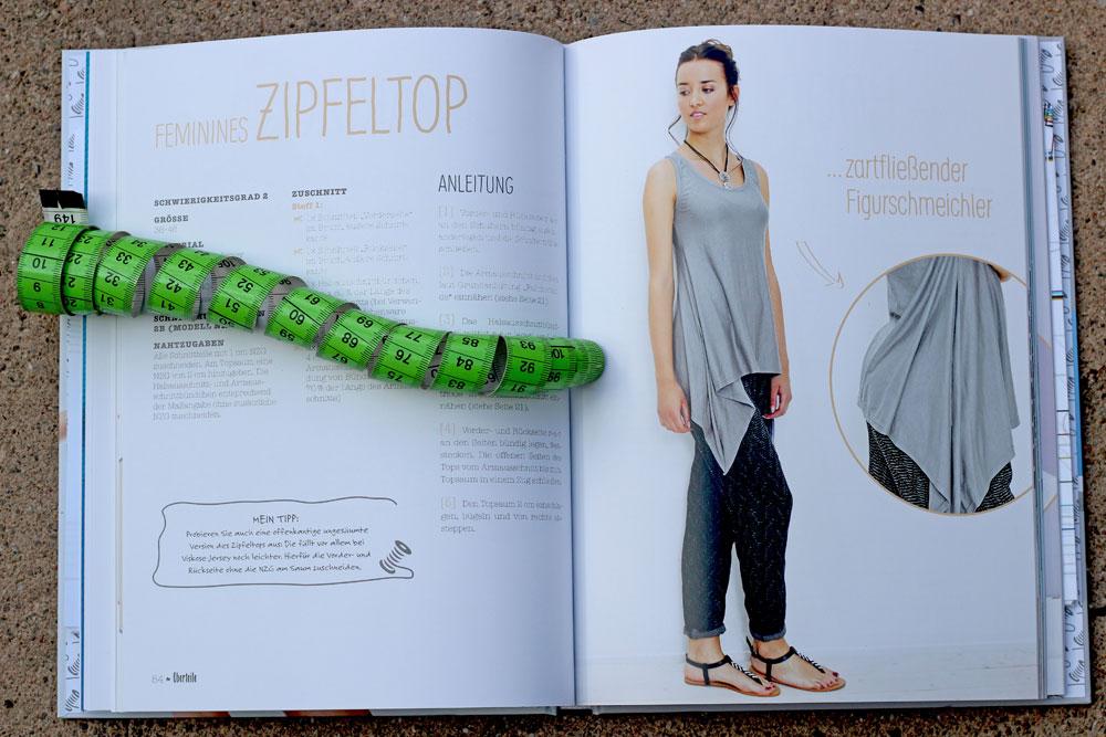 Buchbespechung - Jersey nähen - Zipfeltopp  Buchbesprechung - Jersey nähen - Easy Basics von Julia Korff