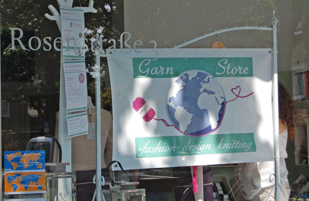 Garn Store Köln - Schaufenster  Anja Diewald vom Garn Store im Interview