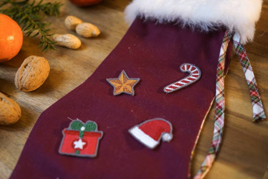 How to sew a christmas stocking easy with embroidery by makema.de  how to sew a christmas stocking easy