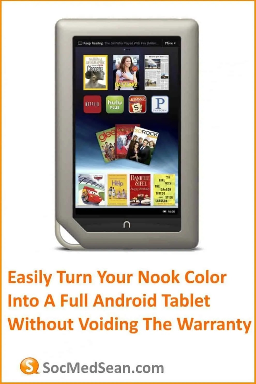 Convert your Nook color to an Android tablet without voiding the warranty